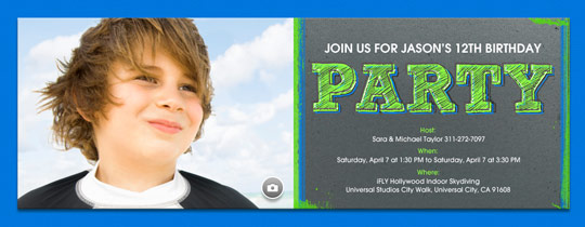 Free kids birthday invitations online invites for children party neon invitation stopboris Image collections