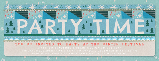 Party Pattern Invitation
