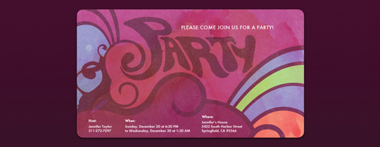 Party Retro Invitation