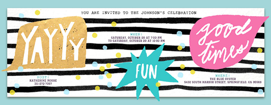 Party Words Invitation