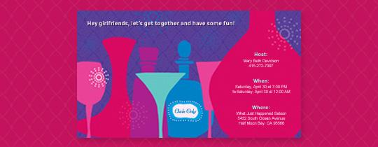 Pink Bottles Invitation