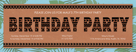 Polynesian Pattern Invitation