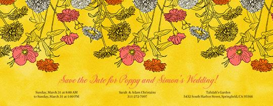 Poppy Print Invitation