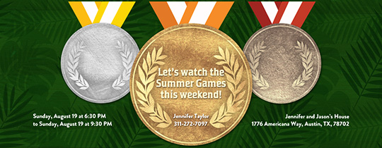 Games Medals Invitation