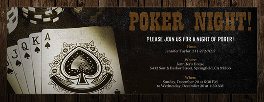 Royal Flush Invitation