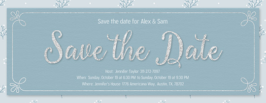 Save The Date Winter Invitation