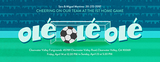 Soccer Ball Ole Invitation