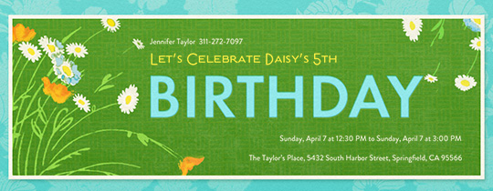 Spring Birthday Invitation
