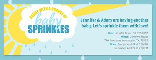 free baby sprinkle invitations evite