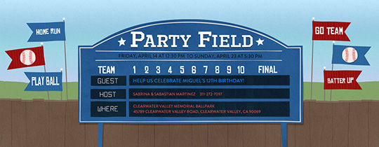 Stadium Scoreboard Invitation