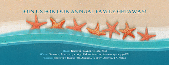 Starfish and Stripes Invitation