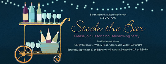 Stock the Bar Wine Invitation