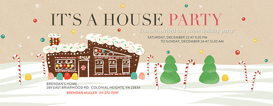 Sweet House Party Invitation