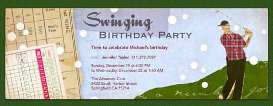 Swinging Birthday Invitation