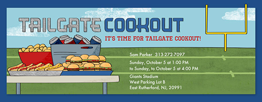 Tailgate Cookout Invitation