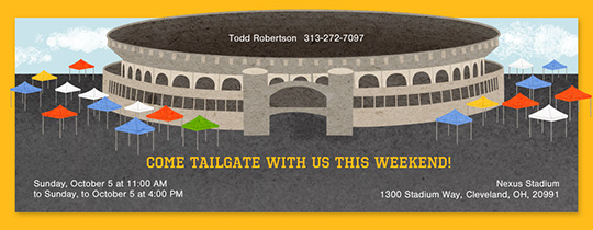 Tailgate Stadium Invitation