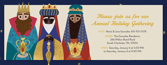 Three Kings Invitation