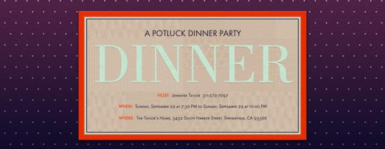 Twilight Dinner Invitation