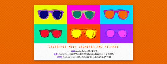 Warhol Shades Invitation