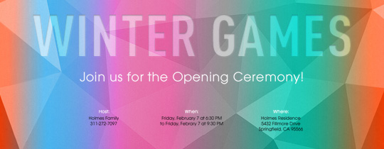 Winter Games Invitation