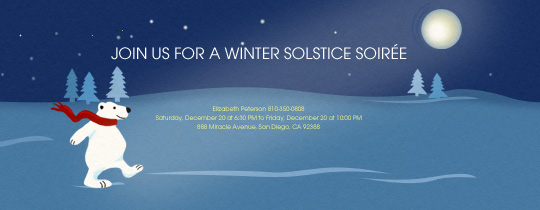 Winter Solstice Bear Invitation