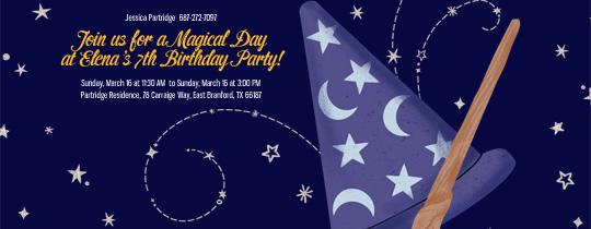 Wizards Hat Invitation