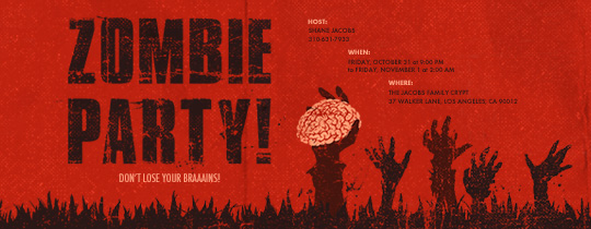 Zombie Party Invitation